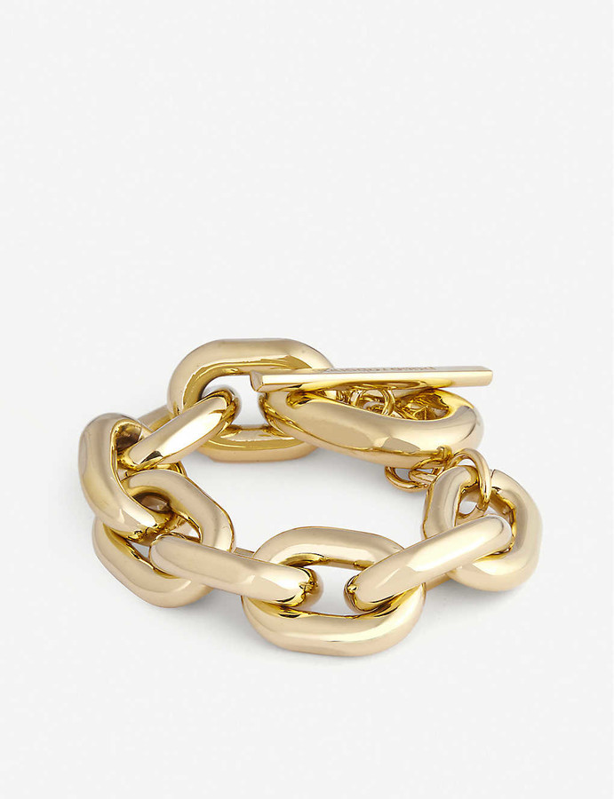 Thumbnail for your product : Paco Rabanne XL Link gold-tone chunky-chain bracelet