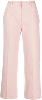 Prada High-Waisted Cropped Jeans