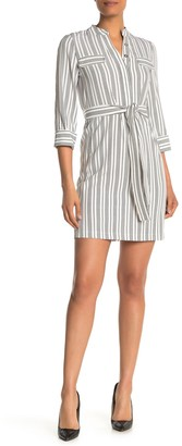Tommy Hilfiger Twill Stripe Print Shirt Dress
