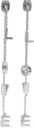 Noir Love Swingers Rhodium-plated Earrings