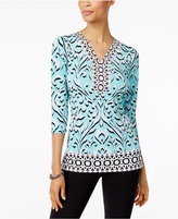 JM Collection Printed Studded Tunic, Only at Macy's