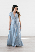 Shabby Apple Rayas Maxi Dress Blue & White