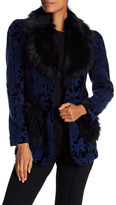 Anna Sui Faux Fur Collar Velvet Jacket