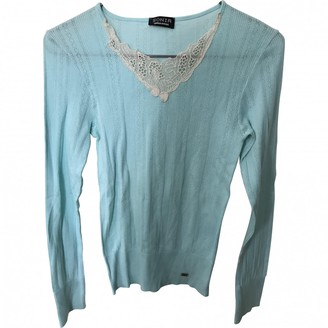 Sonia Rykiel Sonia By Blue Cotton Top for Women Vintage