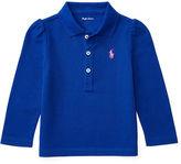 Ralph Lauren Girl Cotton Mesh Long-Sleeve Polo