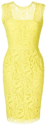 Sophia Kah lace fitted dress