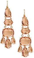 Lauren Ralph Lauren Gold-Tone Multi-Stone Chandelier Earrings
