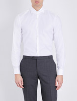 HUGO BOSS Slim-fit cotton-poplin shirt