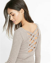 Express strappy back scoop neck sweater