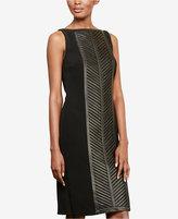 Lauren Ralph Lauren Leather-Panel Sheath Dress