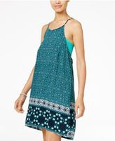 Hurley Juniors' Isadora Printed Strappy-Back Shift Dress