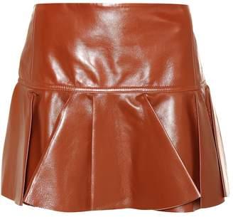 Chloé Leather miniskirt