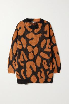 Stella McCartney Leopard-intarsia Sweater - Brown