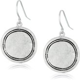 The Sak Engraved Disc Drop Earrings