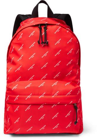 Balenciaga Explorer Printed Nylon Backpack - Red