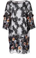 Suno Lace Dress with Raised Floral Appliqué