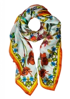 Matthew Williamson Flutter Bloom DNA Silk Scarf