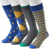 Croft & Barrow Men's 4-pack Solid & Patterned Dress Socks