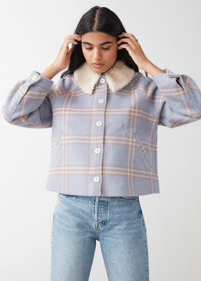 And other stories Collared Button Up Wool Jacket