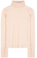 Chloé Wool, Silk And Cashmere Turtleneck Top