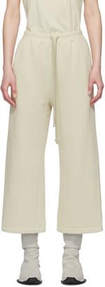 Rick Owens Beige Drawstring Lounge Pants