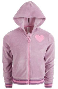 Ideology Little Girls Velour Full-Zip Hoodie, Created for Macy's