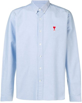 Ami Button-down Shirt De Coeur Chest Patch
