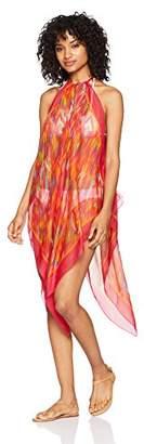 Sunset City Women's Beachwear Ponchos Long Length Polyester Light Weight Pink
