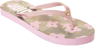 Juicy Couture Pink Fae Camo Flip Flops