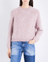 Closed Speckled high-neck knitted jumper
