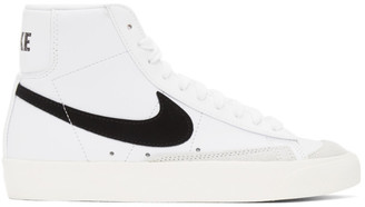 Nike White and Black Blazer Mid 77 Vintage Sneakers