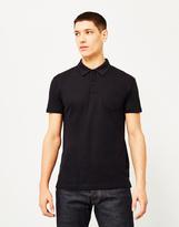 Sunspel Short Sleeve Riviera Polo Shirt Black