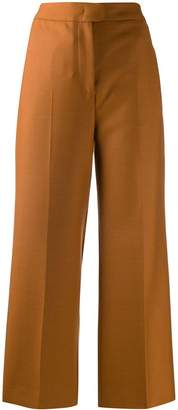 Pt01 high-rise wide-leg cropped trousers
