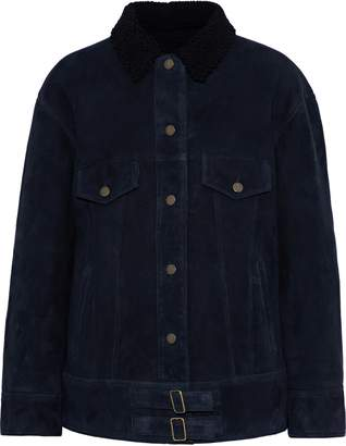 Yves Salomon Meteo By Shearling-trimmed Suede Jacket