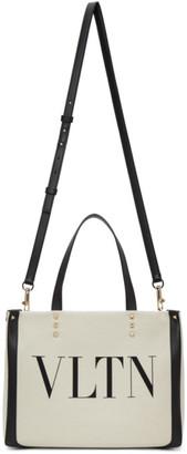 Valentino Off-White Garavani VLTN Mini Tote Bag
