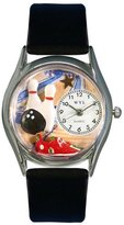 Whimsical Watches Women's S0820017 Bowling Black Leather Watch
