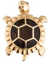 14K Turtle Brooch