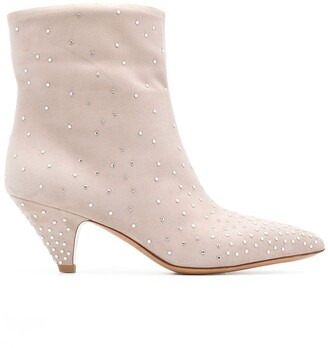 Valentino Micro Studded Ankle Boots