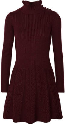 See by Chloe Wool Turtleneck Mini Dress - Burgundy