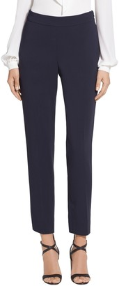 St. John Classic Cady Stretch Cropped Pant with Pockets