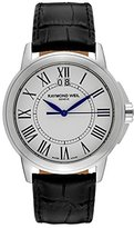 Raymond Weil Men's 5576-ST-00300 Tradition Stainless Steel Case Black Leather Strap with Crocodile Pattern Watch