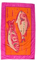 Hermes Printed Fish Beach Towel