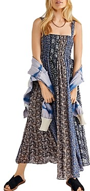 Free People Come Together Smocked Midi Dress