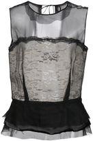 Maison Margiela sheer peplum blouse - women - Silk/Polyamide/Viscose - 4