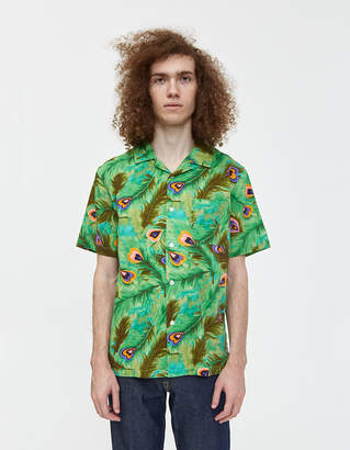 Stussy Peacock Button Up Shirt in Green
