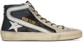Golden Goose Deluxe Brand Black Slide High-Top Sneakers