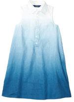 Ralph Lauren 7-16 Dip-Dyed Linen Shirtdress