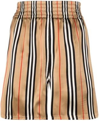 Burberry Marsett Icon striped silk shorts