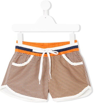 Perfect Moment Kids Zigzag Resort Shorts