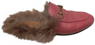 Gucci Pink Leather Mules & Clogs